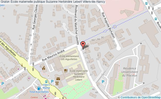 plan École Maternelle Publique Suzanne Herbinière Lebert Villers-lès-nancy Villers-lès-Nancy