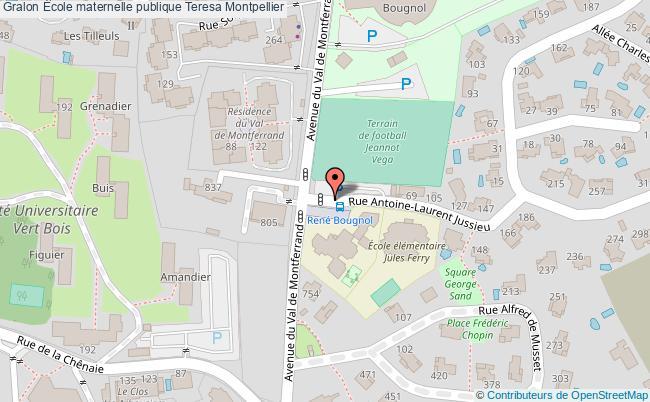 plan École Maternelle Publique Teresa Montpellier Montpellier