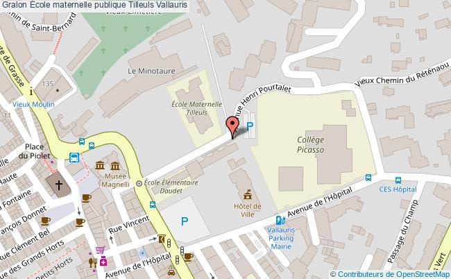 plan École Maternelle Publique Tilleuls Vallauris Vallauris