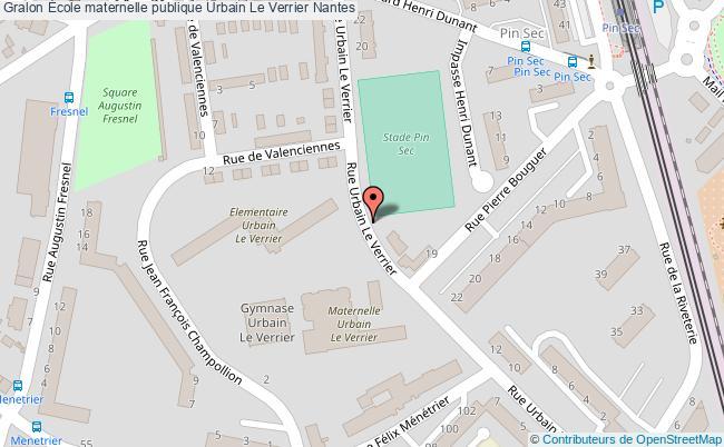 plan École Maternelle Publique Urbain Le Verrier Nantes Nantes