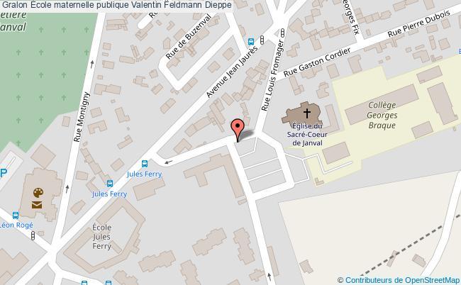 plan École Maternelle Publique Valentin Feldmann Dieppe Dieppe