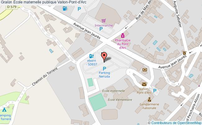plan École Maternelle Publique Vallon-pont-d'arc Vallon-Pont-d'Arc