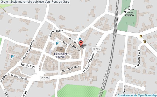 plan École Maternelle Publique Vers-pont-du-gard Vers-Pont-du-Gard