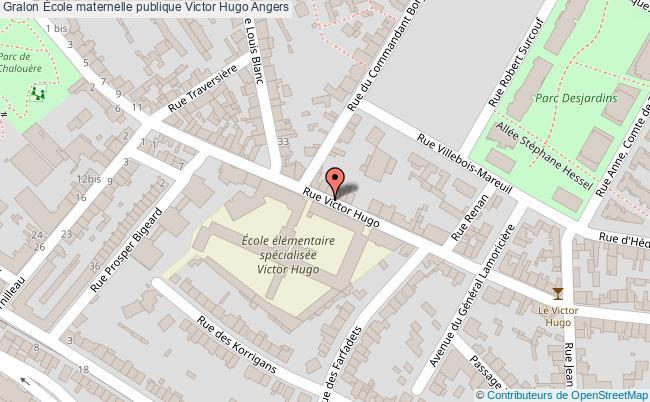 plan École Maternelle Publique Victor Hugo Angers Angers