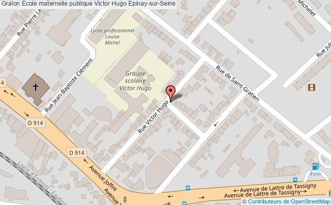 plan École Maternelle Publique Victor Hugo Épinay-sur-seine Épinay-sur-Seine