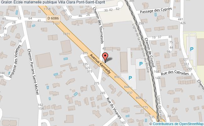plan École Maternelle Publique Villa Clara Pont-saint-esprit Pont-Saint-Esprit