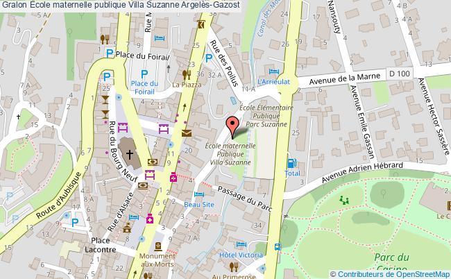 plan École Maternelle Publique Villa Suzanne Argelès-gazost Argelès-Gazost