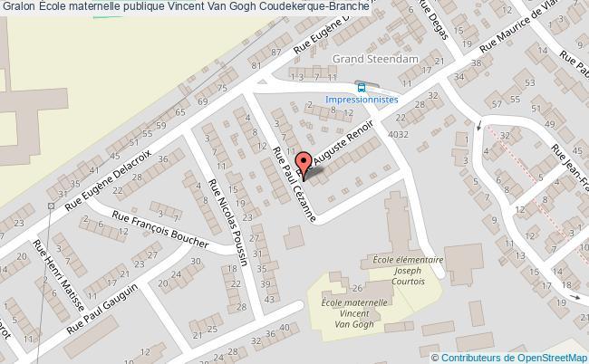 plan École Maternelle Publique Vincent Van Gogh Coudekerque-branche Coudekerque-Branche