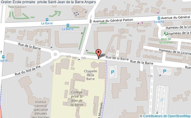 plan École Primaire  Privée Saint-jean De La Barre Angers Angers