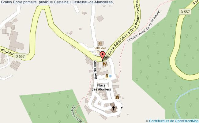 plan École Primaire  Publique Castelnau Castelnau-de-mandailles Castelnau-de-Mandailles