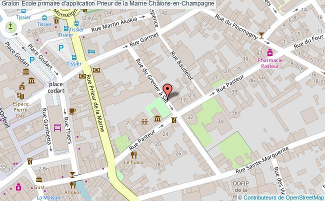 plan École Primaire D'application Prieur De La Marne Châlons-en-champagne Châlons-en-Champagne