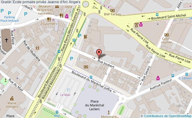 plan École Primaire Privée Jeanne D'arc Angers Angers