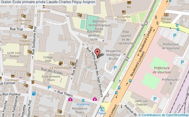 plan École Primaire Privée Lasalle-charles Péguy Avignon Avignon
