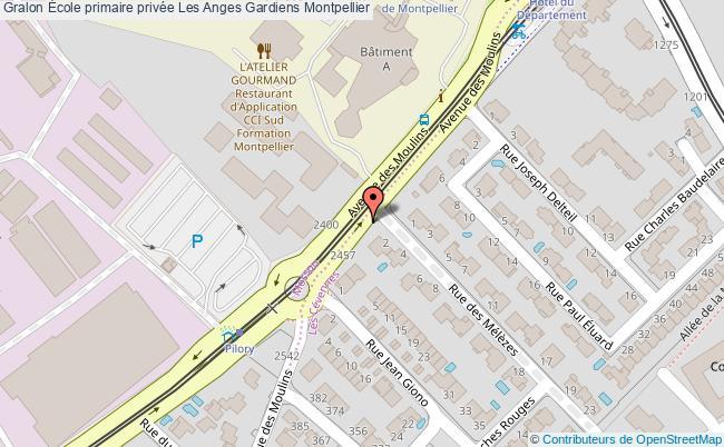 plan École Primaire Privée Les Anges Gardiens Montpellier Montpellier