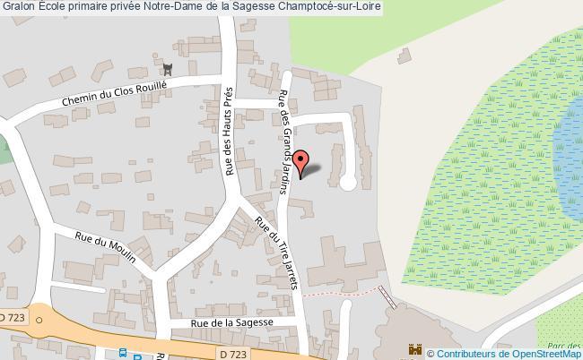 plan École Primaire Privée Notre-dame De La Sagesse Champtocé-sur-loire Champtocé-sur-Loire