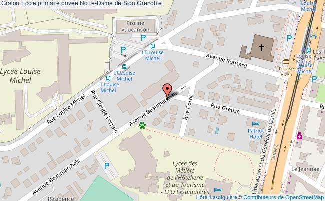 plan École Primaire Privée Notre-dame De Sion Grenoble Grenoble