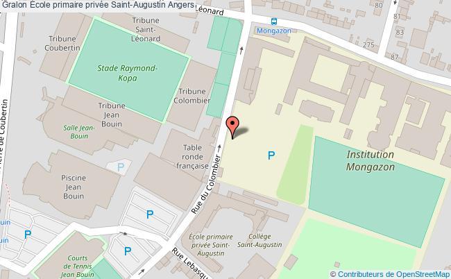 plan École Primaire Privée Saint-augustin Angers Angers
