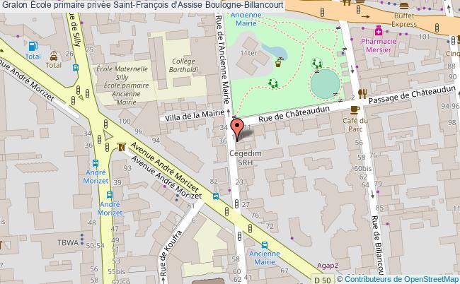 plan École Primaire Privée Saint-françois D'assise Boulogne-billancourt Boulogne-Billancourt