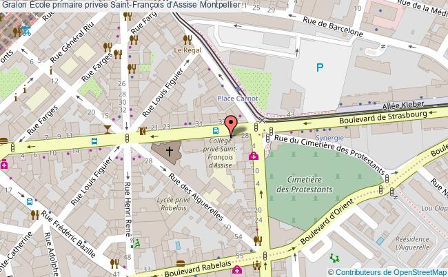 plan École Primaire Privée Saint-françois D'assise Montpellier Montpellier