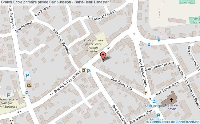 plan École Primaire Privée Saint-joseph - Saint-henri Lanester Lanester