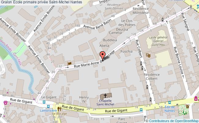 plan École Primaire Privée Saint-michel Nantes Nantes