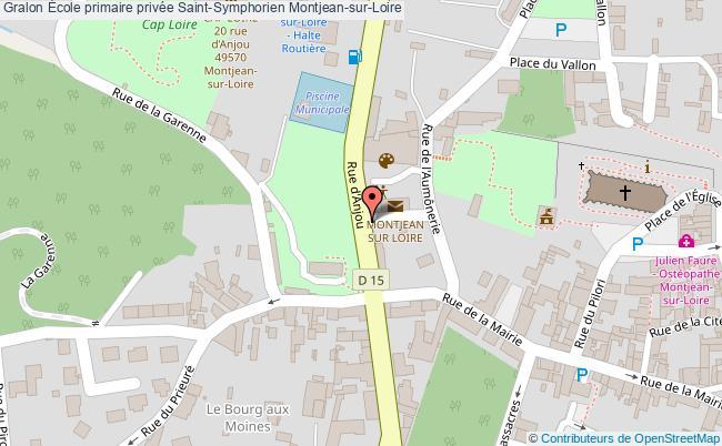 plan École Primaire Privée Saint-symphorien Montjean-sur-loire Montjean-sur-Loire