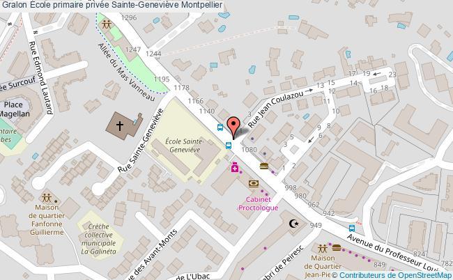 plan École Primaire Privée Sainte-geneviève Montpellier Montpellier