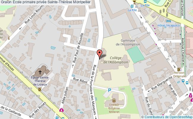plan École Primaire Privée Sainte-thérèse Montpellier Montpellier