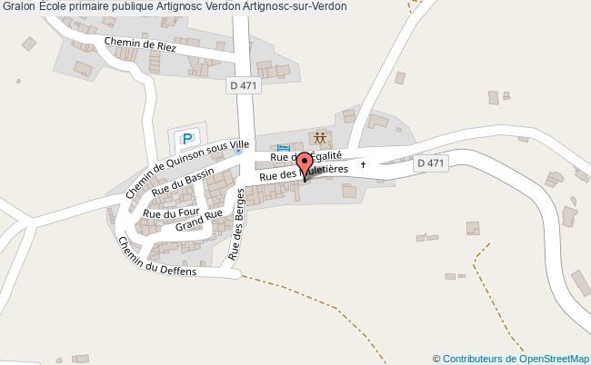 plan École Primaire Publique Artignosc Verdon Artignosc-sur-verdon Artignosc-sur-Verdon