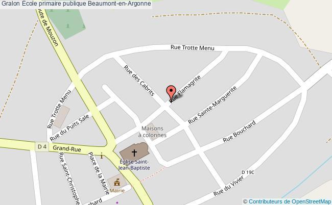 plan École Primaire Publique Beaumont-en-argonne Beaumont-en-Argonne