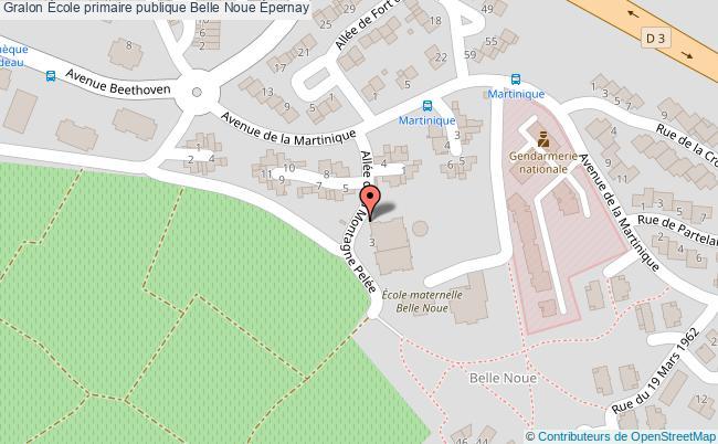 plan École Primaire Publique Belle Noue Épernay Épernay