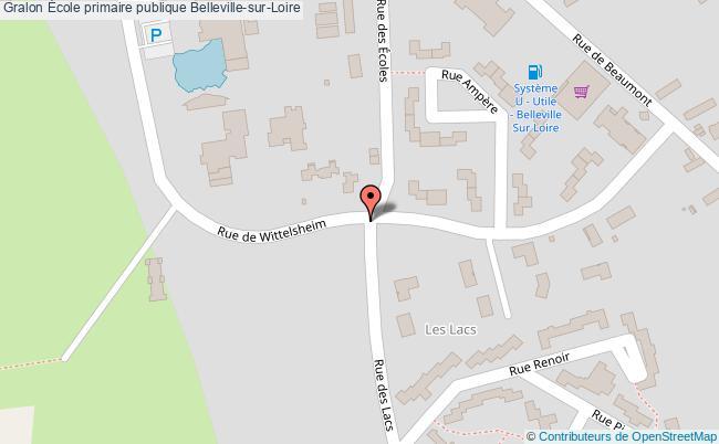 plan École Primaire Publique Belleville-sur-loire Belleville-sur-Loire