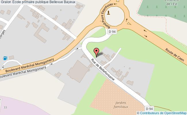 plan École Primaire Publique Bellevue Bayeux Bayeux