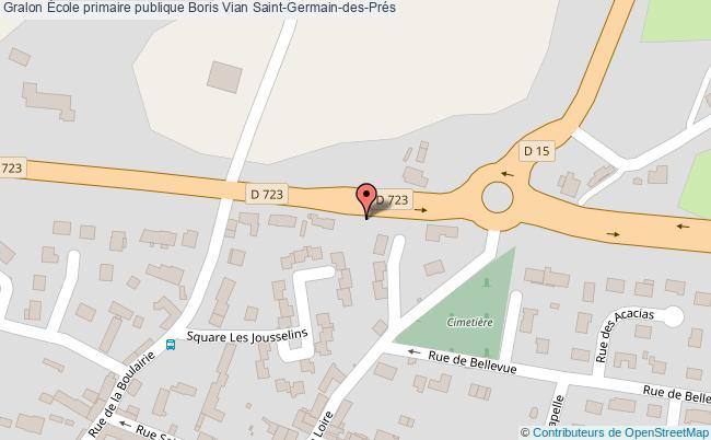 plan École Primaire Publique Boris Vian Saint-germain-des-prés Saint-Germain-des-Prés
