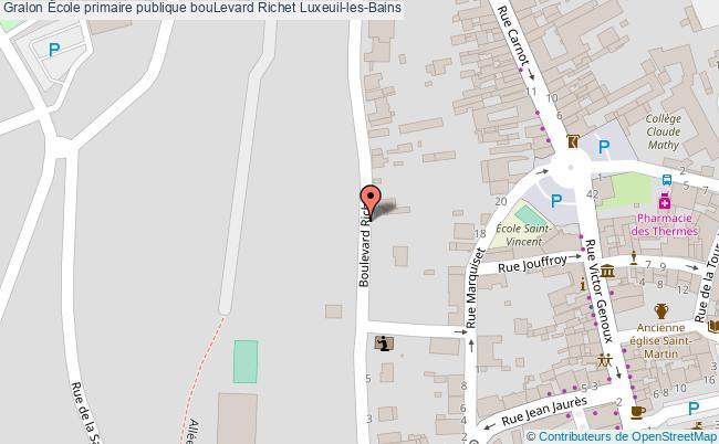 plan École Primaire Publique Boulevard Richet Luxeuil-les-bains Luxeuil-les-Bains