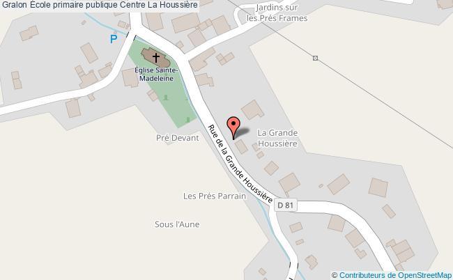 plan École Primaire Publique Centre La Houssière La Houssière