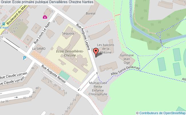 plan École Primaire Publique Dervallières Chezine Nantes Nantes