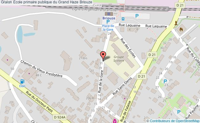plan École Primaire Publique Du Grand Haze Briouze Briouze