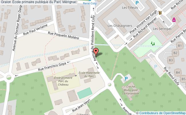 plan École Primaire Publique Du Parc Mérignac Mérignac