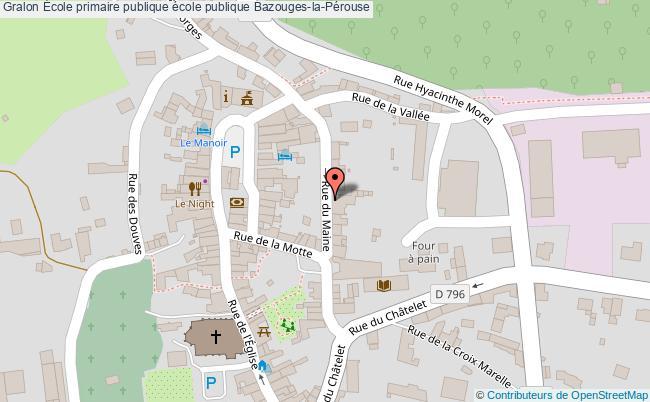 plan École Primaire Publique école Publique Bazouges-la-pérouse Bazouges-la-Pérouse