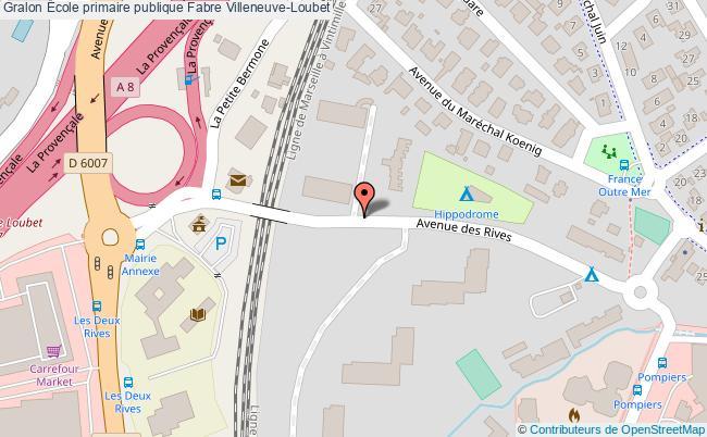 plan École Primaire Publique Fabre Villeneuve-loubet Villeneuve-Loubet
