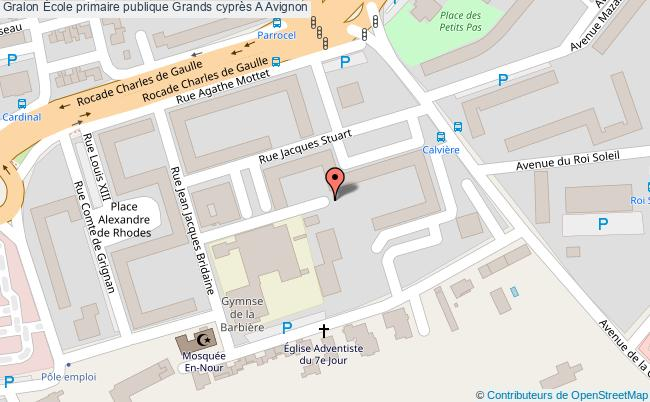 plan École Primaire Publique Grands Cyprès A Avignon Avignon