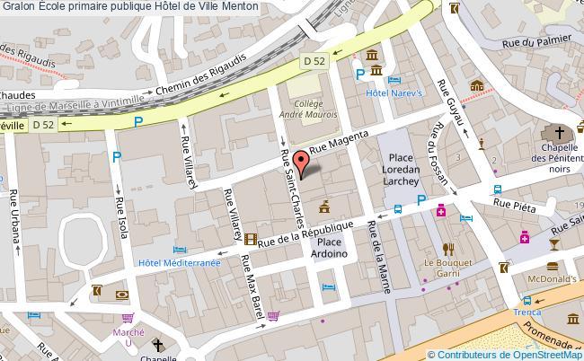 plan École Primaire Publique Hôtel De Ville Menton Menton