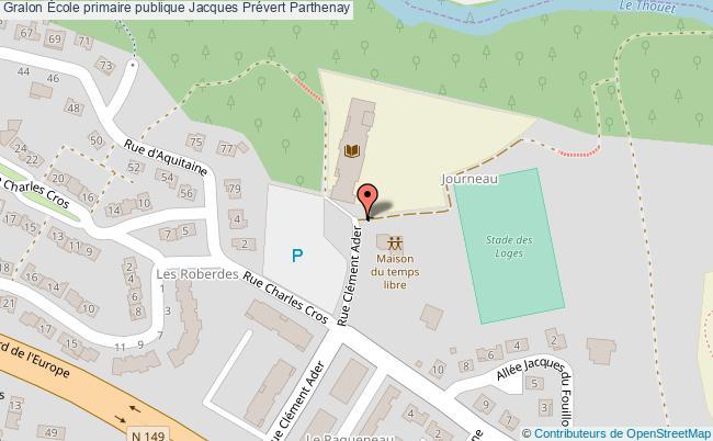 plan École Primaire Publique Jacques Prévert Parthenay Parthenay