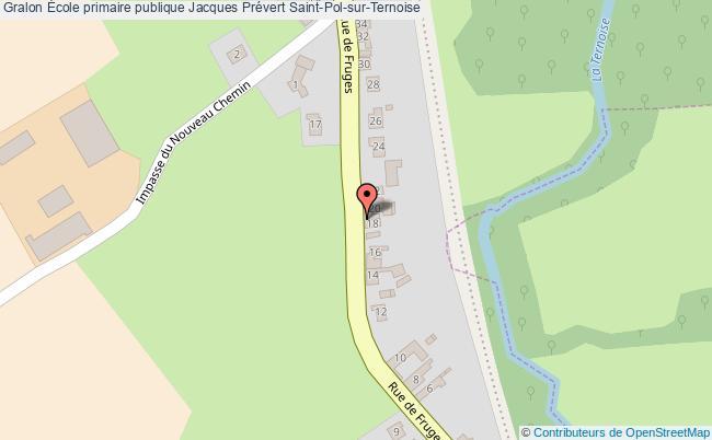 plan École Primaire Publique Jacques Prévert Saint-pol-sur-ternoise Saint-Pol-sur-Ternoise