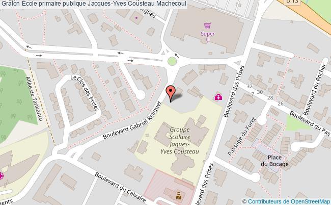 plan École Primaire Publique Jacques-yves Cousteau Machecoul Machecoul