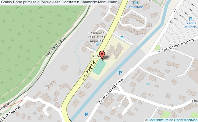 plan École Primaire Publique Jean Constantin Chamonix-mont-blanc Chamonix-Mont-Blanc