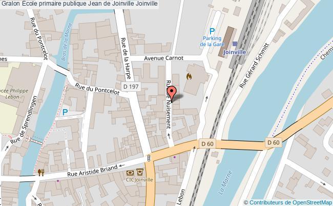plan École Primaire Publique Jean De Joinville Joinville Joinville