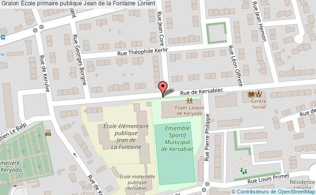 plan École Primaire Publique Jean De La Fontaine Lorient Lorient