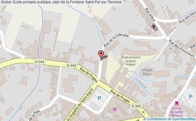 plan École Primaire Publique Jean De La Fontaine Saint-pol-sur-ternoise Saint-Pol-sur-Ternoise